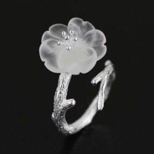 Crystal Skeleton Flower Ring 2