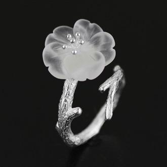 Crystal Skeleton Flower Ring 2