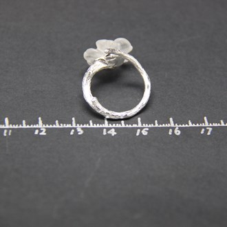 Crystal Skeleton Flower Ring 4