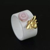 Rose and Bee Ring 1